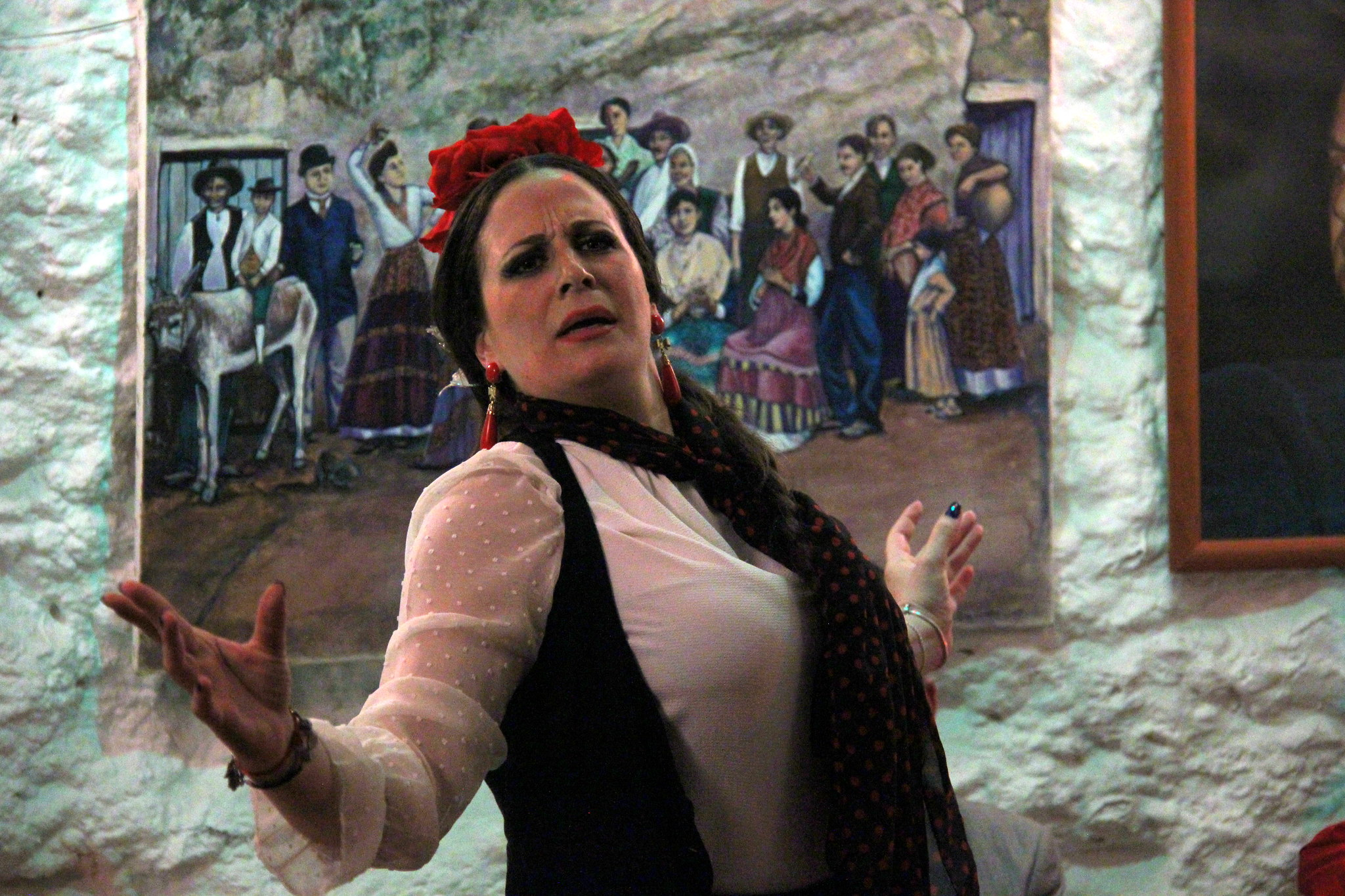 Cave flamenco show at Albaicin in Granada