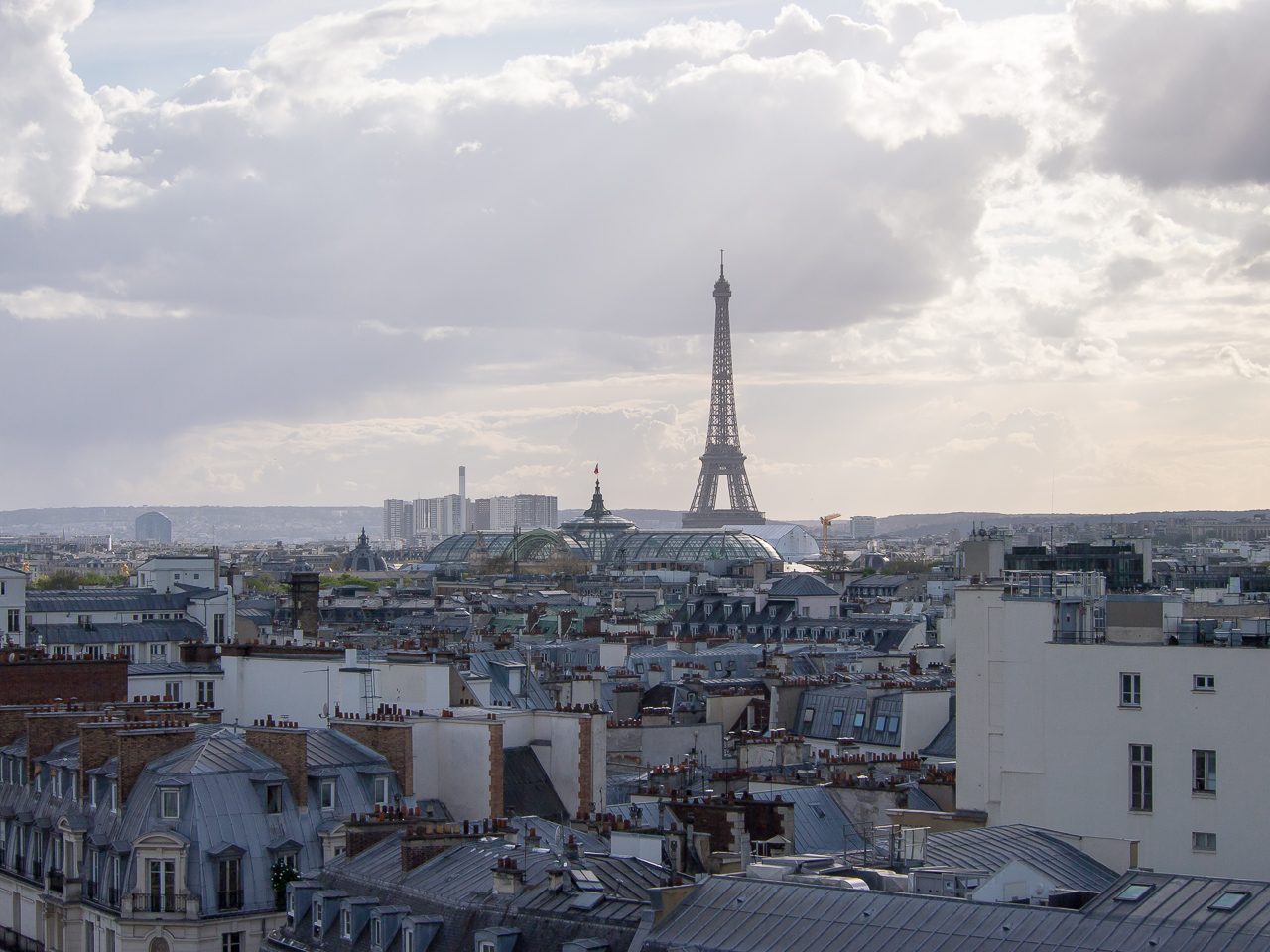 Pariisi Le Printemps näkymä