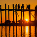 U Bein Bridge at Sunset (Amarapura, Myanmar 2013) by Alex Stoen