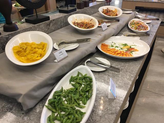 冷盤區,我們到的時候已經比較晚了(早上九點),不過菜還是滿多的@屏東恆春墾丁怡灣渡假酒店