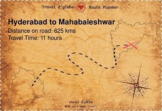 Map from Hyderabad to Mahabaleshwar