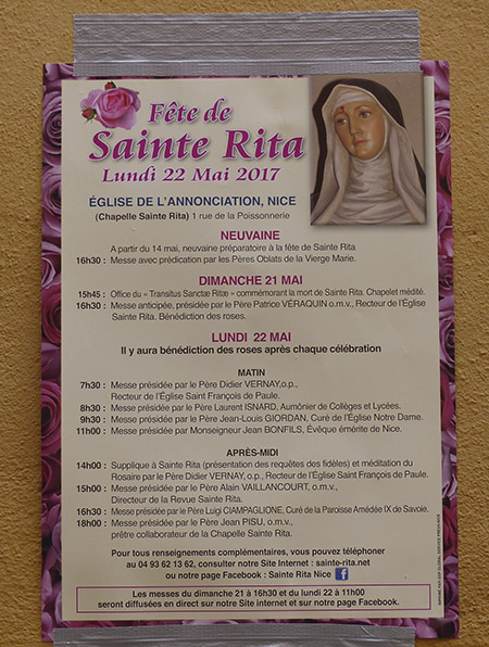 fête de la sainte rita