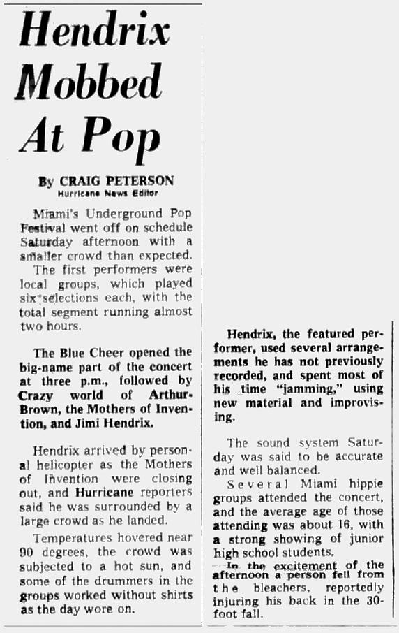 Miami Hurricane, Florida 1968-05-21