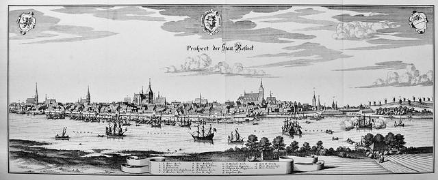 Matthäus Merian - Rostock, Mecklenburg-Vorpommern, Germany (c.1653)