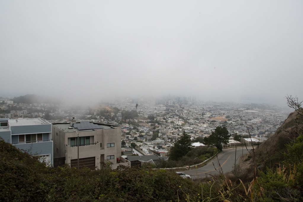 View of San Francisco near Twin Peaks