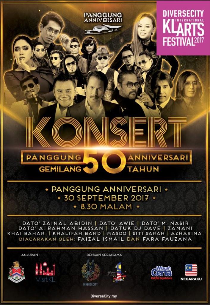 Konsert Panggung Anniversari Gemilang 50 Tahun