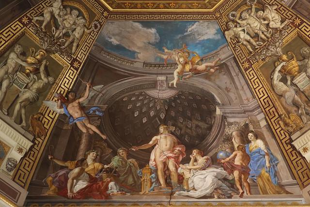 Tommaso Conca (1734-1822) Apollo e le Muse come ispiratori delle arti (1782-1787) soffitto della sala delle Muse -  Museo Pio-Clementino - Musei Vaticani
