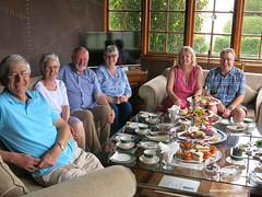 Our Group enjoying afternoon tea - Heritance Tea Factory Hotel Nuwara Eliya Sri Lanka