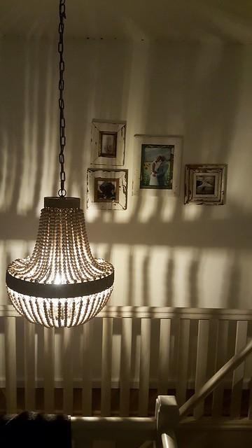 Kralenlamp overloop