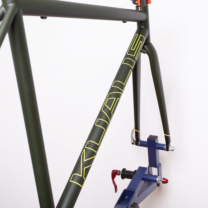 Kualiscycles Steel Frame Painted by Swamp Things.