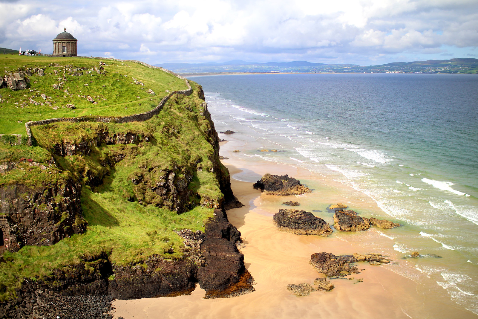Downhill Beach Causeway Coast Route Northern Ireland travel blogger UK