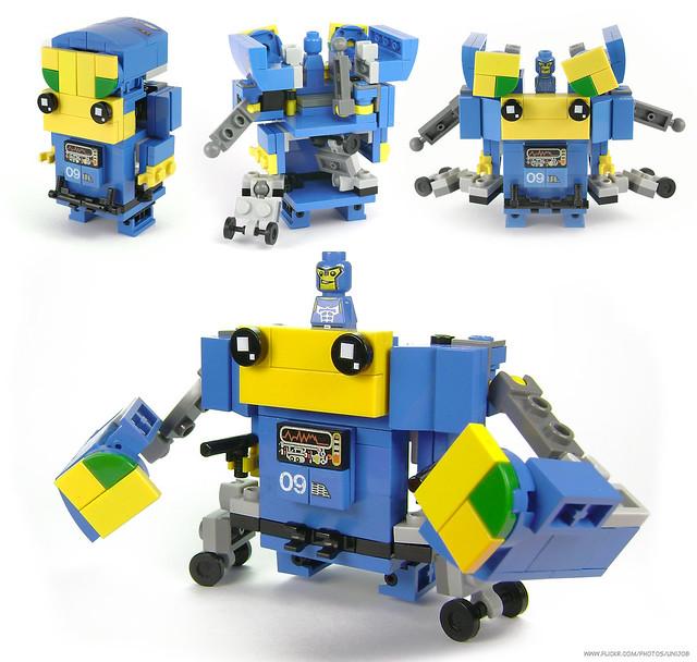 BrickMorphz Blue Unit 09 [Crab-Bot Brawler]