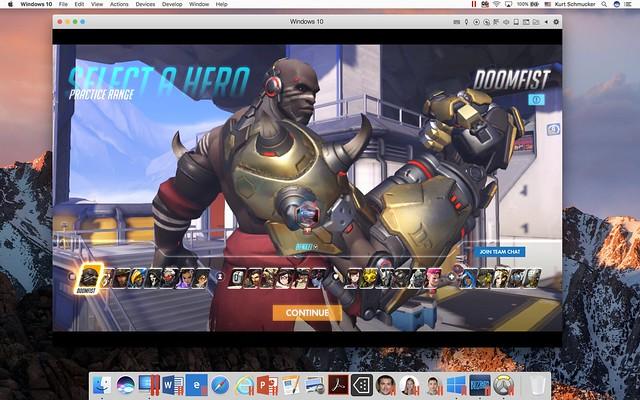 DoomFist in Overwatch in Parallels Desktop 13