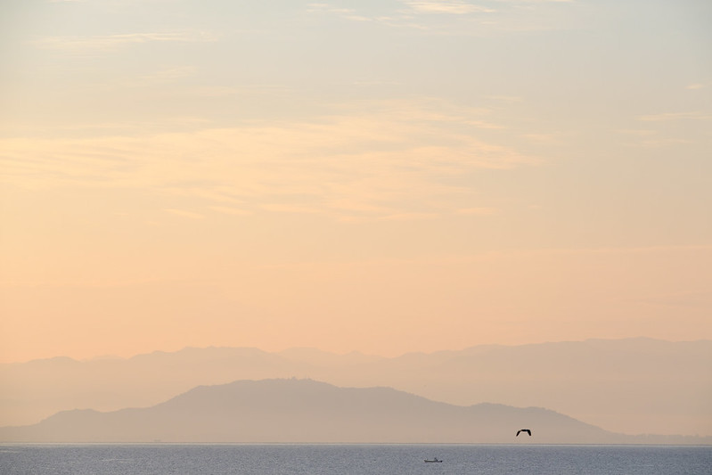 Lake Biwa, Early morning view of the summer
