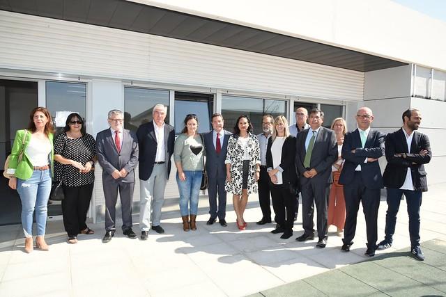 Visita de la primera fase del CEIP número 6 de Illescas y de las obras de la segunda fase