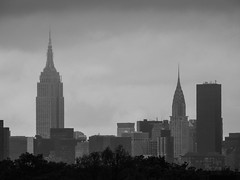 Empire State Building And Chrysler Building Viewed From Citi Field; Willets Point, New York