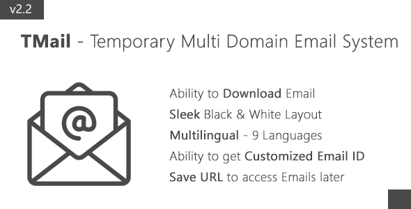 TMail v2.0 – Multi Domain Temporary Email System