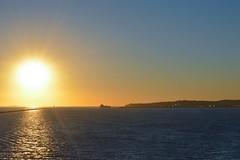 Sunset at Long Beach LA