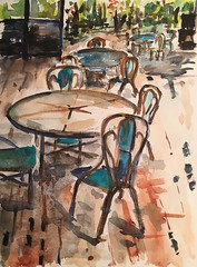 Cafe in Watercolor