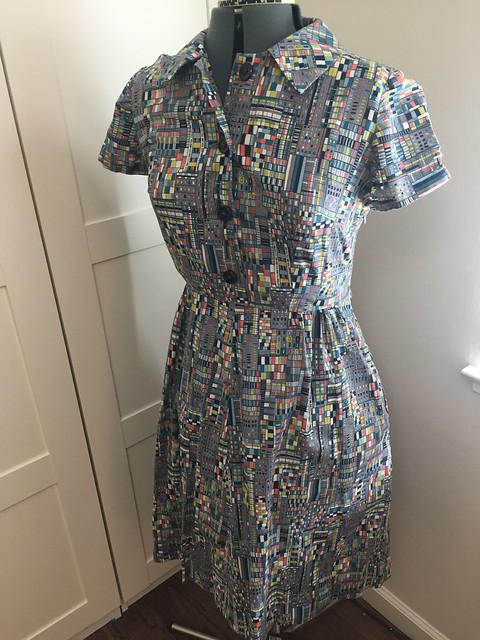 city windows shirtdress