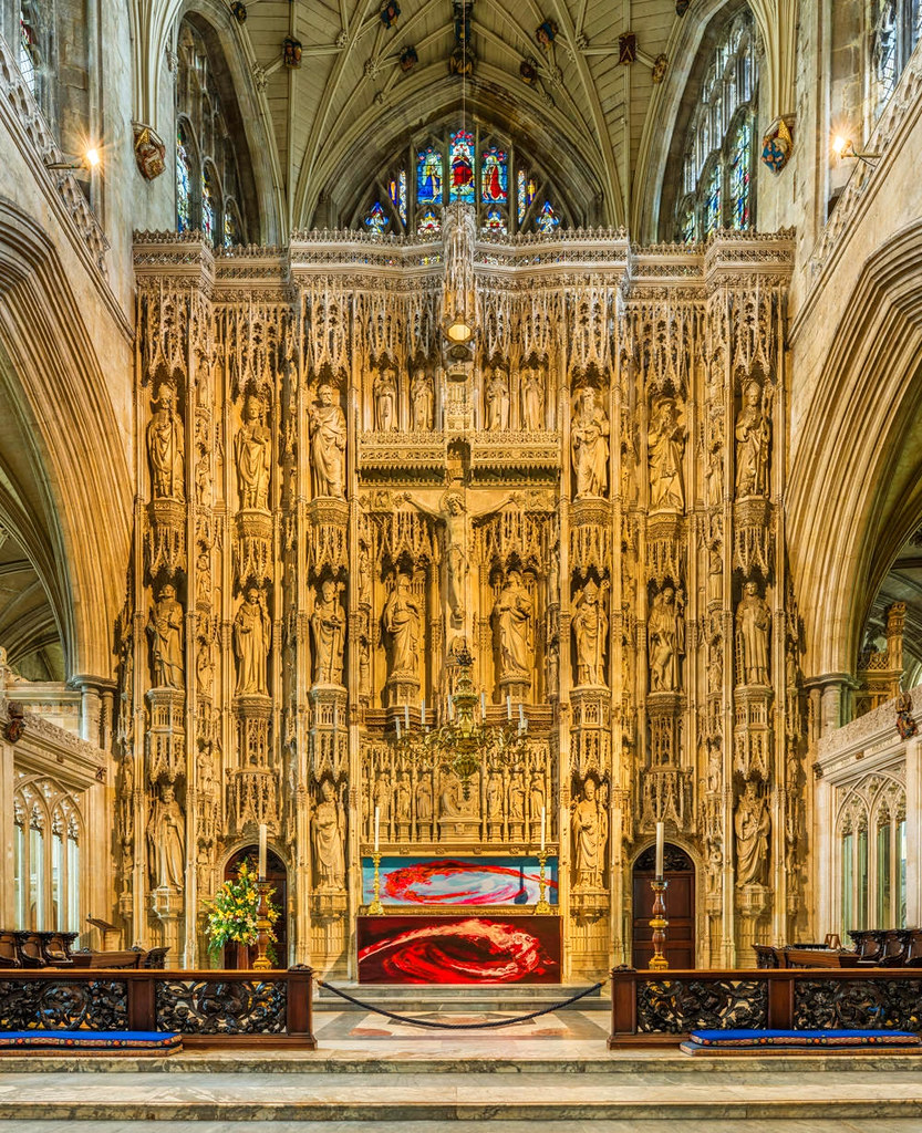 The High Altar of Winchester Cathedral. Credit David Iliff