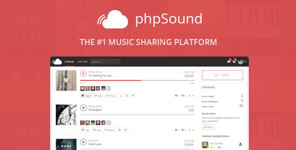phpSound v2.0.2 – Music Sharing Platform