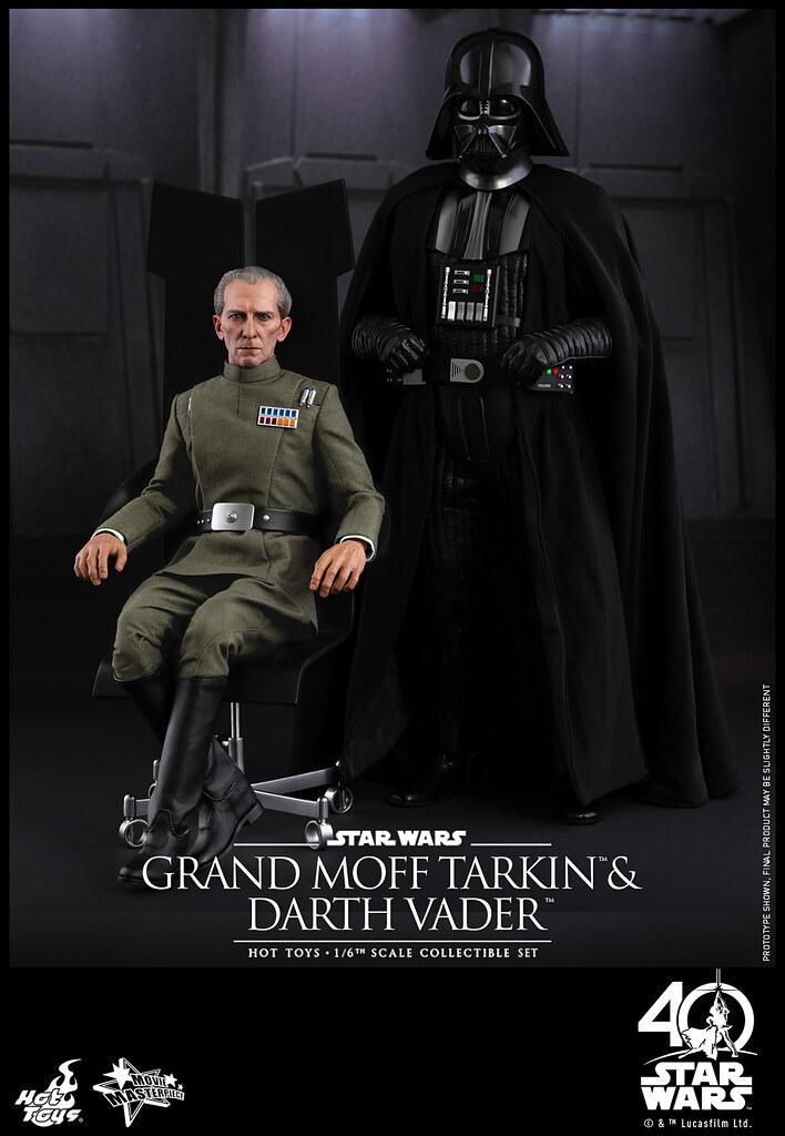 Hot Toys – MMS434 – 星際大戰四部曲:曙光乍現【塔金總督 & 黑武士】Grand Moff Tarkin & Darth Vader 1/6 比例人偶作品