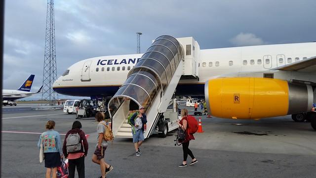Deboarding at Reykjavik