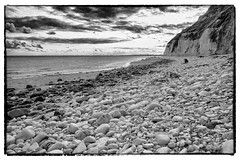 Dane's Dyke beach, near Bridlington, East Yorkshire, England.