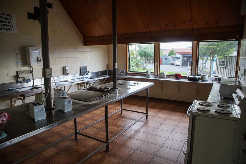 Camping ground kitchen