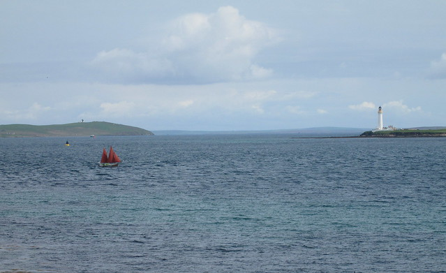 Yacht in Hoy Sound, Orkney