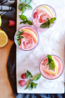 raspberry mint gin lemonade | by Hapaway