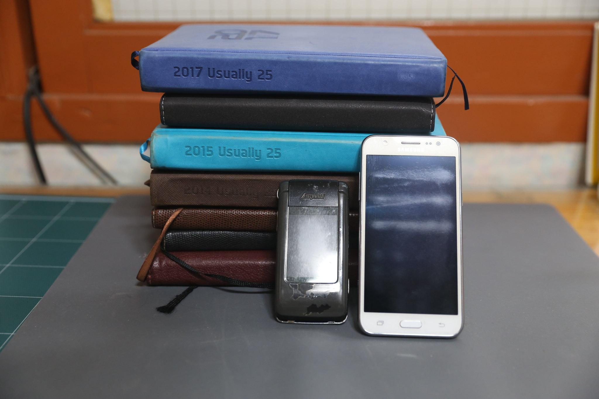 11다이어리, 스마트폰, 피처폰