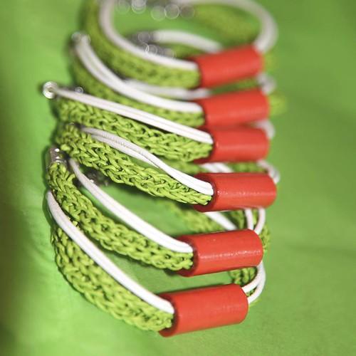 Paper Twine Bracelets by S.Chick