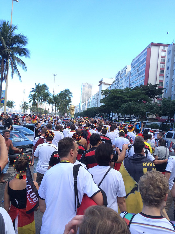 German soccer fans on the streets of Rio de Janeiro - FIFA World Cup 2014, Brazil