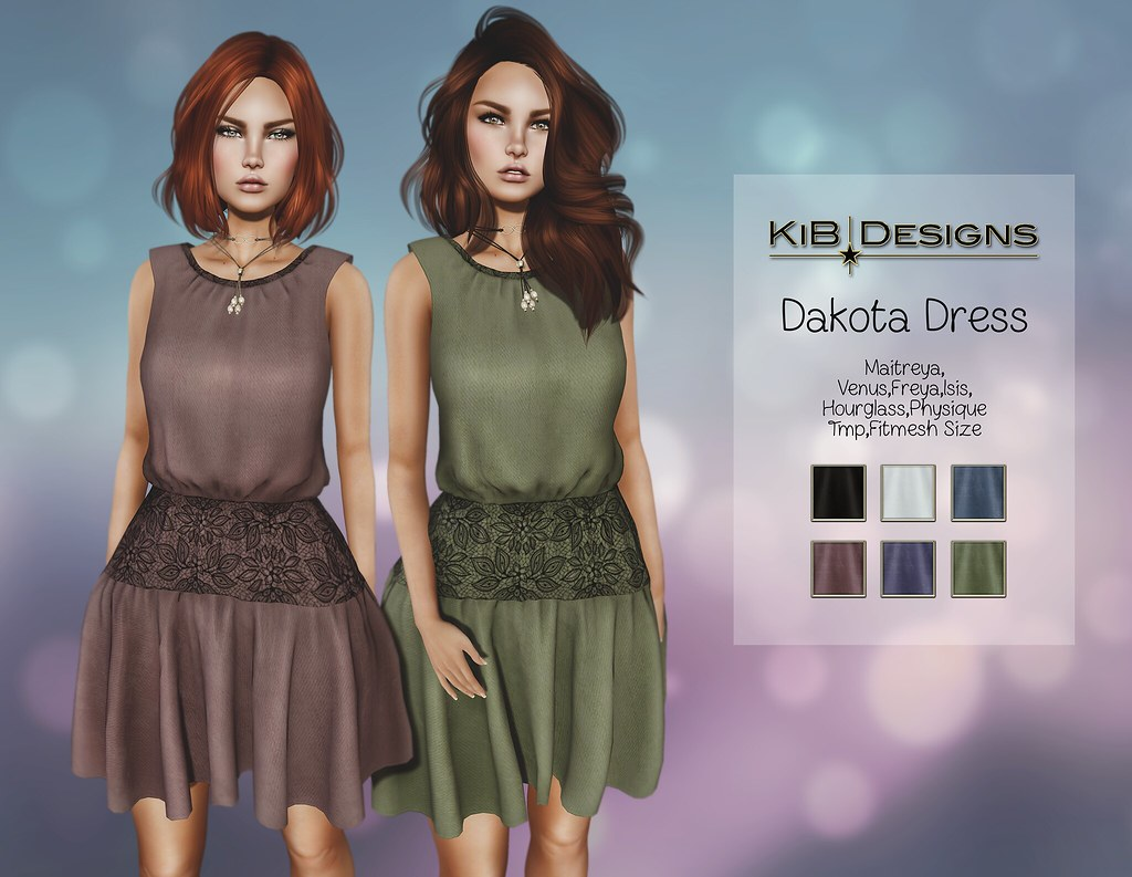 KiB Designs - Dakota Dress & Necklace @Spotlight Event - SecondLifeHub.com