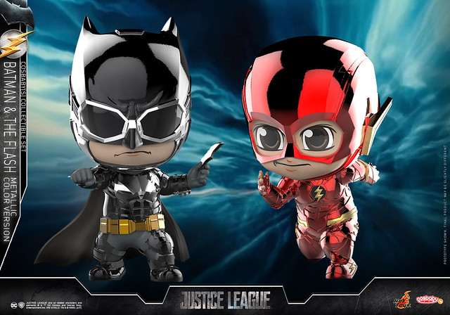 Hot Toys - COSB398 正義聯盟【蝙蝠俠&閃電俠(金屬配色版)】Justice League Batman & The Flash (Metallic Color Version) Cosbaby Series