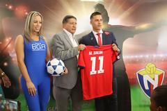 09/22/2017 - 13:28 - Quito 22 Sep (ANDES).- El club deportivo 'El Nacional' firmó un acuerdo con el Banco General Rumiñahui y gozan de 3 contrataciones nuevas para el equipo. Fotografías: Carlos Rodríguez/Andes.