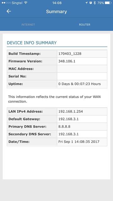 AIR-706P - iOS App - Summary - Router