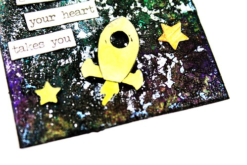 Meihsia Liu Simply Paper Crafts ATC Mixed Media Rocket Planet Universe Simon Says Stamp 4