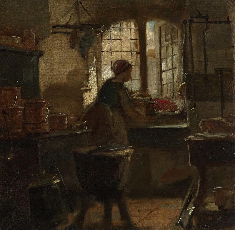 Matthijs Maris - Keuken (1859)