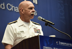 Adm. Scott Swift delivers the keynote address during the International Seapower Symposium in Seoul, Sept. 5. (U.S. Navy/MCSN William Carlisle)