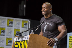 Moderator Terry Crews