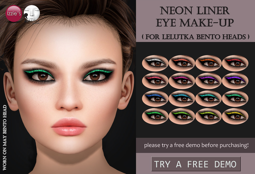 Neon Liner Eye Make-Up (LeLutka) - SecondLifeHub.com