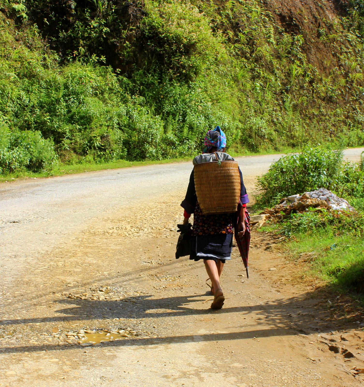A Black Hmong lady in Sa Pa Vietnam