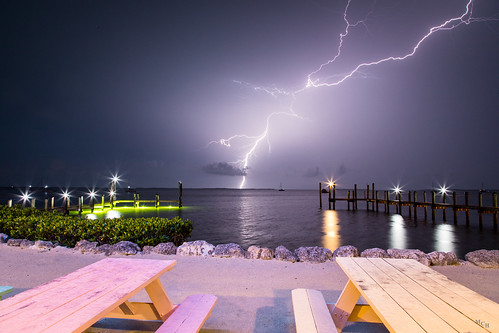 photosbymch landscape longexposure lightning nightsky sound buttonwoodsound keylargo florida usa canon 5dmkiv storm outdoors boats clouds