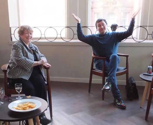 Cathy MacPhail and Kirkland Ciccone at The Rasputin Dagger launch