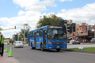 Blue Bus Route C25 in Bogota, Colombia