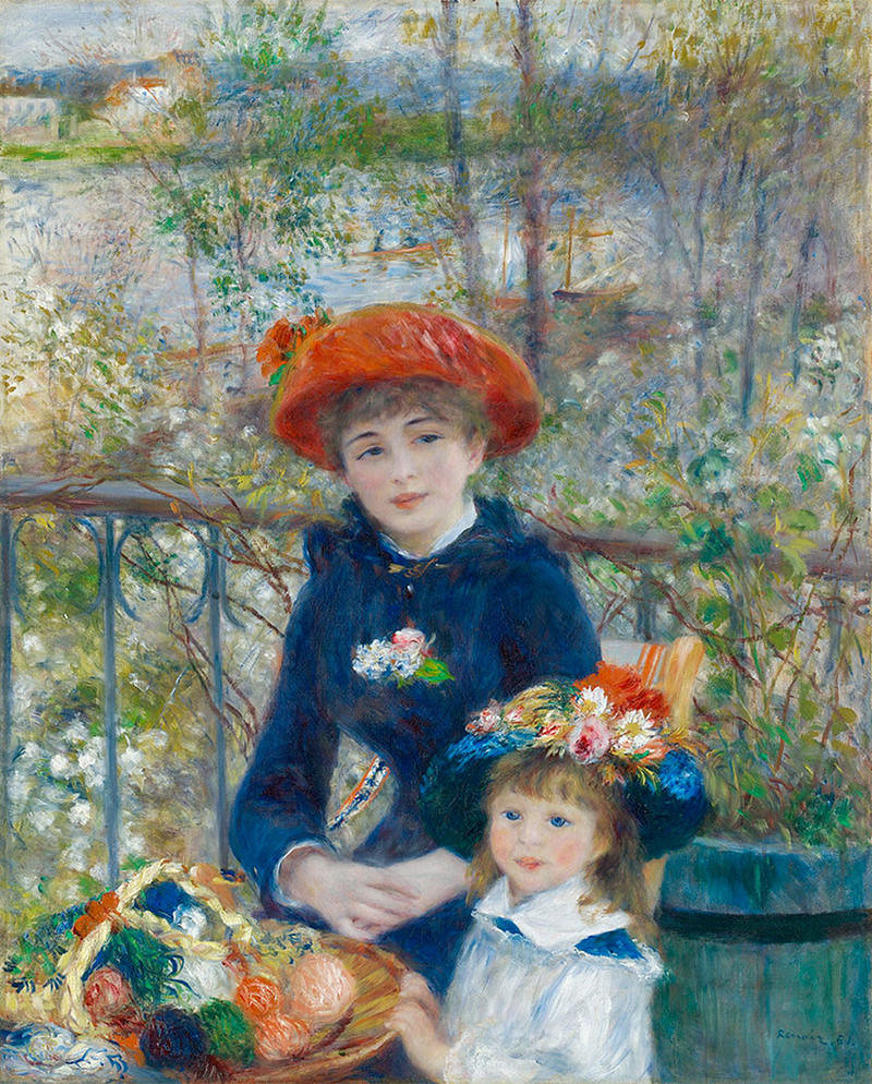 The Two Sisters, On the Terrace by Pierre-Auguste Renoir