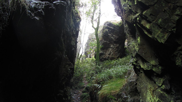 Inside Cleft Rock